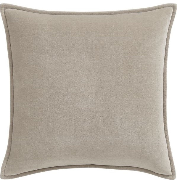 Monroe Greige Pillow - Contemporary - Decorative Pillows - by Crate&Barrel