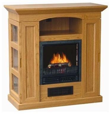 electric fireplace heater oak contemporary indoor