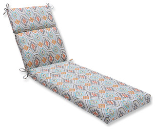 Eresha Oasis Chaise Lounge Cushion - Southwestern - Outdoor Cushions And Pillows - by Pillow ...