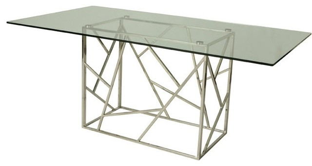 Dining Table With Rectangular Glass Top Contemporary Dining Tables