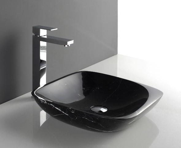 Maya designer natural stone basin sink modern for Designer bathroom sinks basins