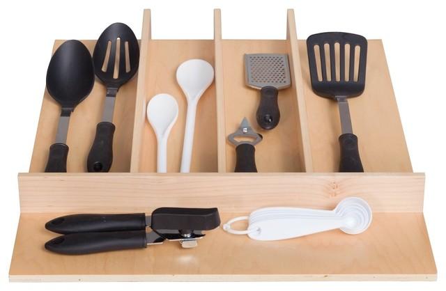 Century Components Utensil Drawer Organizer Traditional Kitchen Drawer Organizers By