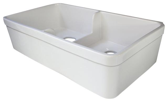Short Apron Farmhouse Sink : White 32