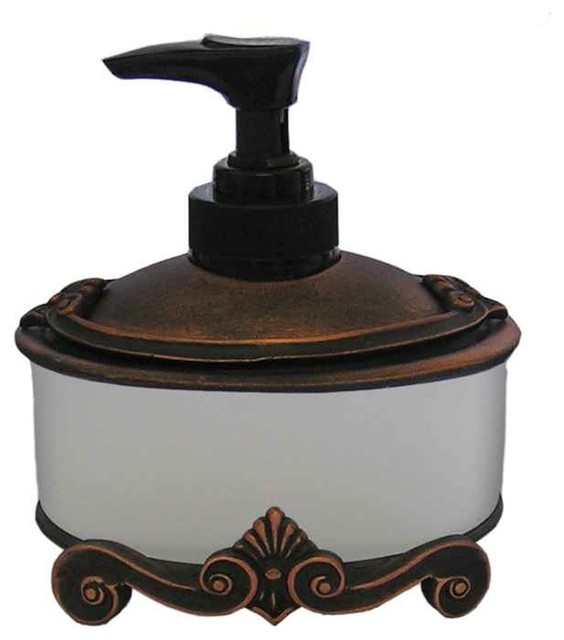 Corinthia Sm Dispenser, Antique Gold victorian-bathroom ...