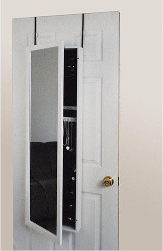 Mirrotek Over-the-door Mirror Jewelry Armoire, White - Contemporary - Mirrors - by Walmart