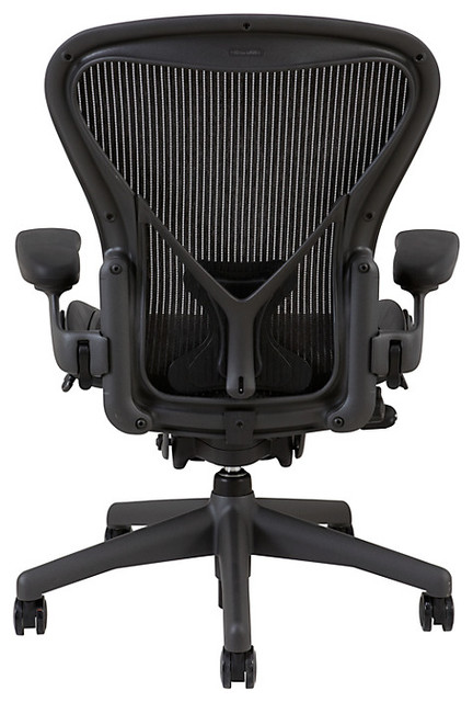 herman miller aeron office chair size b graphite modern office