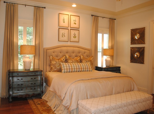 Lightened French Country Master Bedroom