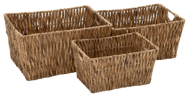 Seagrass Nested Oval Bread Baskets Set Of 3 Lg=135Lx10Wx4H