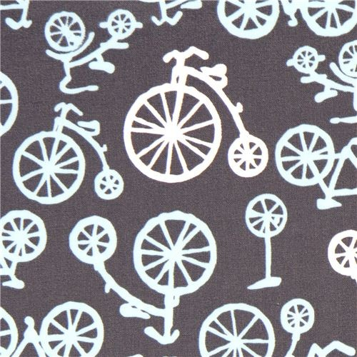 Michael Miller premium laminate fabric bike - Fabric