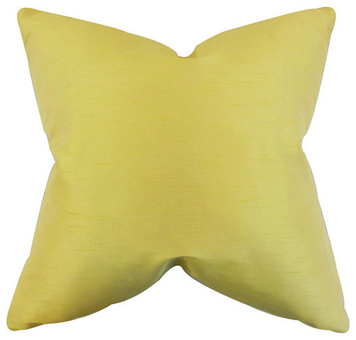 Yellow Decorative Pillows For Bed : yellow bed pillows acker yellow 18 x 18 solid throw pillow traditional