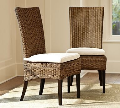 Jacquelyne Rattan Wicker Side Chair Traditional Dining