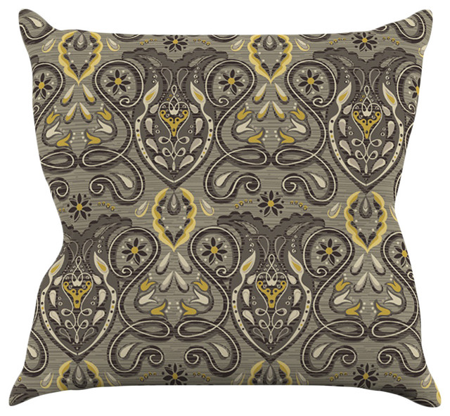 Gold Brown Throw Pillows : Suzie Tremel