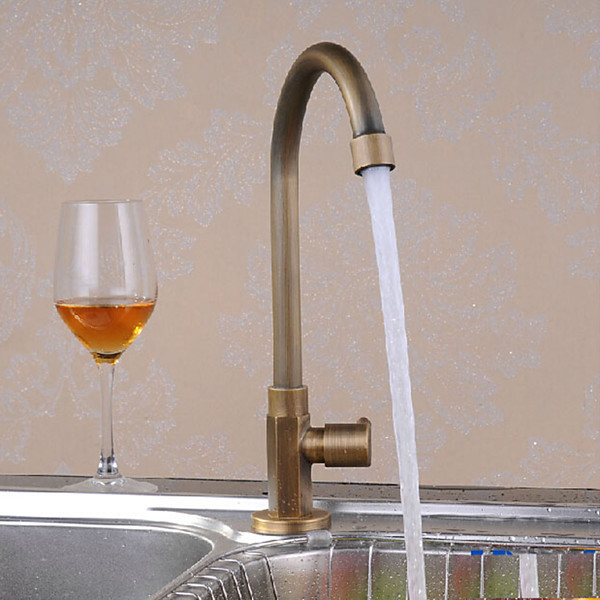 antique style brass 1 hole 1 hand satin kitchen faucet different styles of kitchen faucets