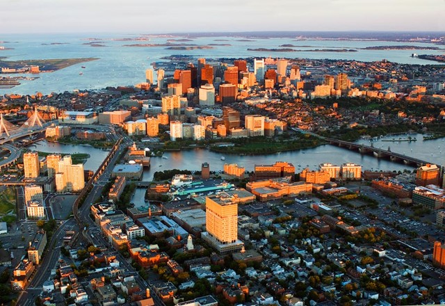 Boston sunset wall mural contemporary wall decals for Boston wall mural