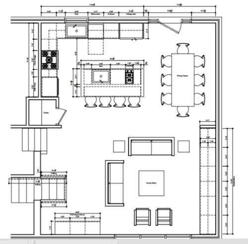 Kitchen Layout Dimensions With Island: Kitchen Island Dimensions
