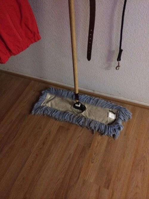 why no dustmops on hardwood floors