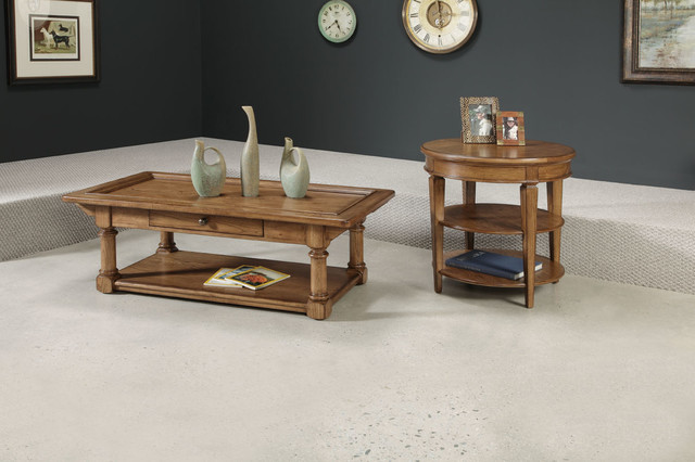 American Drew 114 912 Americana Home Rectangular Cocktail Table Kd Traditional Coffee Tables