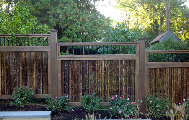 Black Bamboo Fencing Tropical Home Fencing And Gates