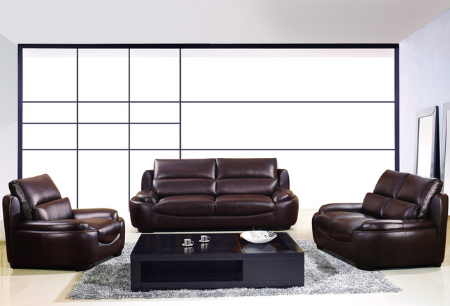dark brown leather sofa couch loveseat chair tufted living