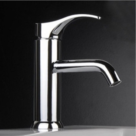 Chrome Finish Single Handle Cold And Hot Bathroom Sink Faucet Modern Bathroom Sink Faucets