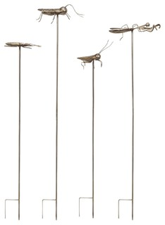 imax acerra metal insect garden stake set of 4 modern