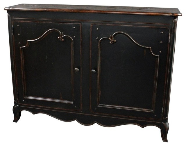 Sideboard French Country Wood Raised, Black farmhouse-buffets-and-sideboards