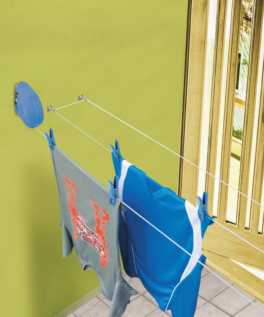 Blue Delight Retractable Clothes Line Contemporary