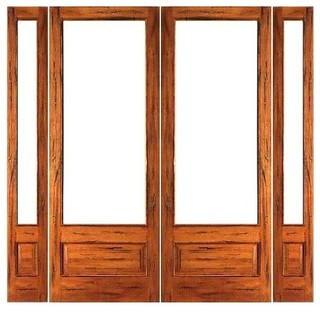 Pre hung rustic 1 lite p b french solid ig glass double for Solid wood patio doors
