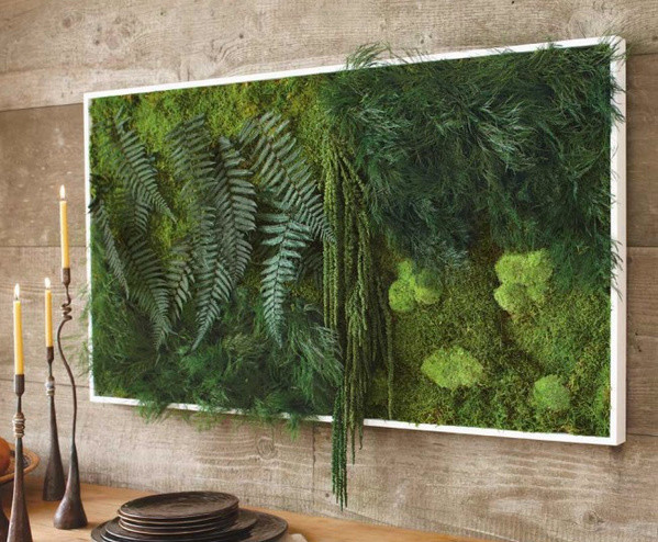 Fern and Moss Wall Art eclectic-area-rugs