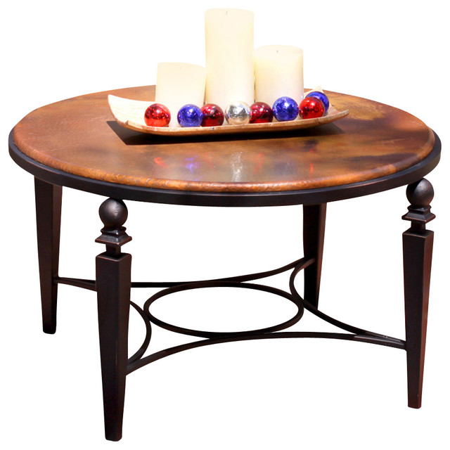 Artisan Home Tribecca Cocktail Table With Copper Top And