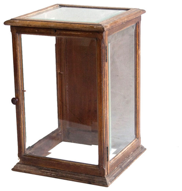 antique mahogany display case traditional home decor