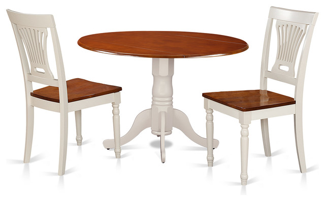 42 Round Small Dining Room Table Set With 9 Drop Leaf Buttermilk