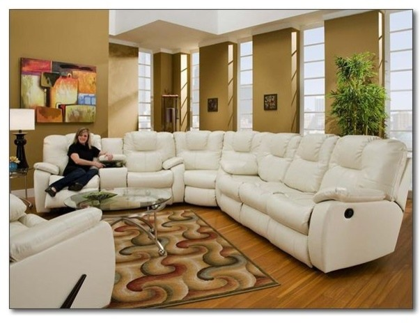 Recline Designs Furniture Camry White Leather Reclining
