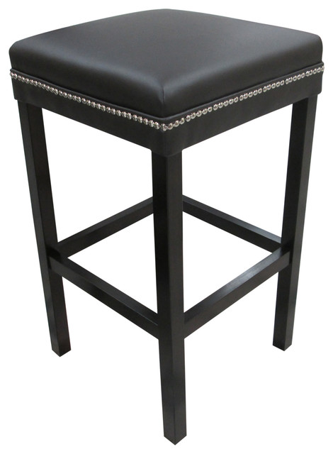 The Ashley Brown Studded Barstool Contemporary Bar