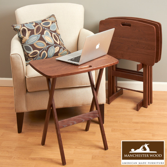... Tray Table Desk Set of 4 by Manchester Wood traditional-tv-trays