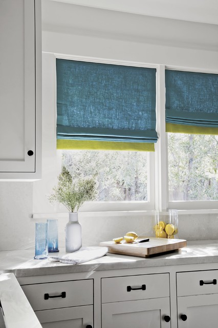 Smith and noble color block roman fabric shades for Smith and noble shades