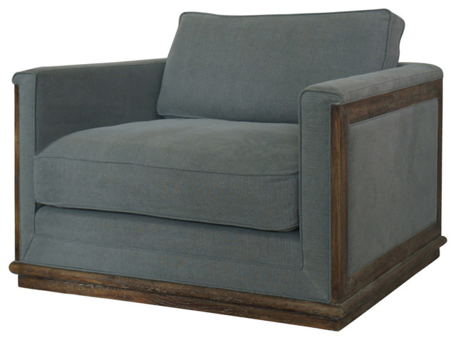 Eliseo Chair And A Half Stone Grey Modern By Marco Polo Imports