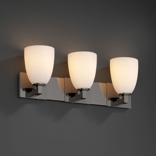 Vanity Light Fixture Black : Fusion Modular Three-Light Black Nickel Bath Fixture - Contemporary - Bathroom Vanity Lighting ...