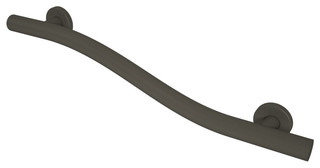 """Wave Grab Bar, Oil Rubbed Bronze, 1-1/4""""x18"""" - Contemporary - Grab Bars - by Grab Bar Specialists"""