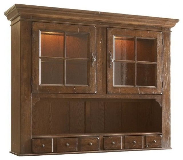 Broyhill Attic Heirlooms China Hutch in Natural Oak - China Cabinets And Hutches - by Cymax