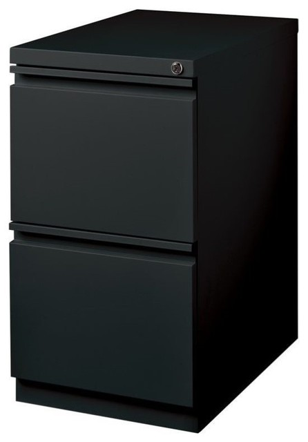 Hirsh Industries 2 Drawer Mobile File Cabinet File in Black ...