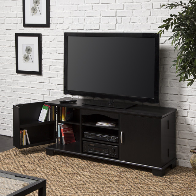 Black Wood 60 Inch TV Stand Console