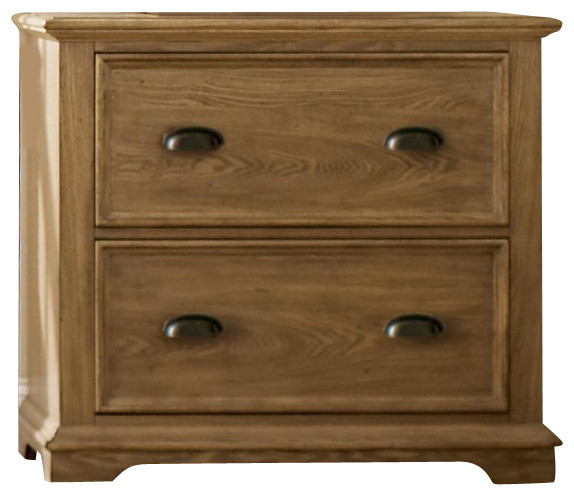Riverside Furniture Coventry Lateral File Cabinet, Weathered Driftwood - Farmhouse - Filing ...