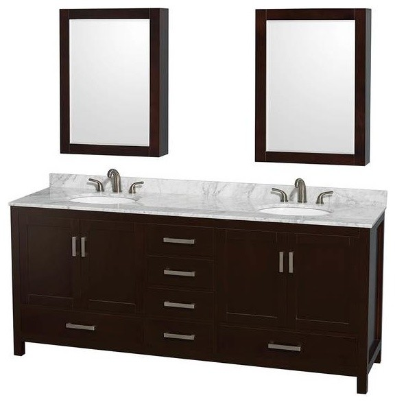 wyndham sheffield 80 inch bathroom vanity