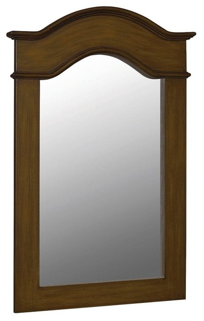 Belle Foret 40in X 30in Framed Vanity Portrait Mirror Aged Walnut Traditional Bathroom