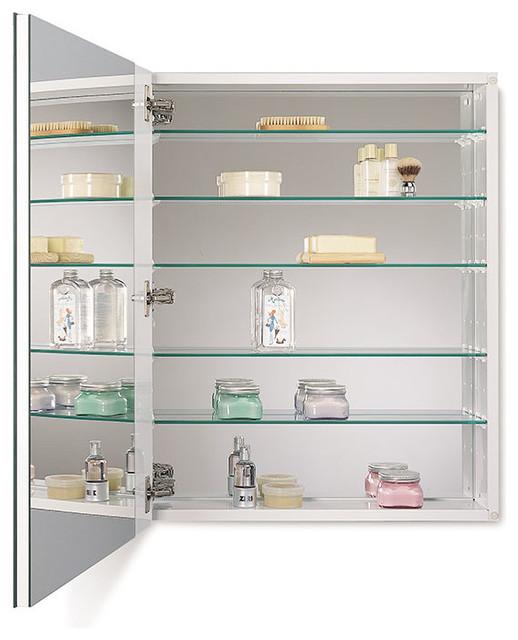 "Metro Deluxe Oversize 24"" x 30"" Beveled Medicine Cabinet, Surface Mount - Modern - Medicine ..."