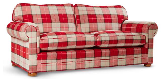 Lofa Collection Sofa Red Checkered