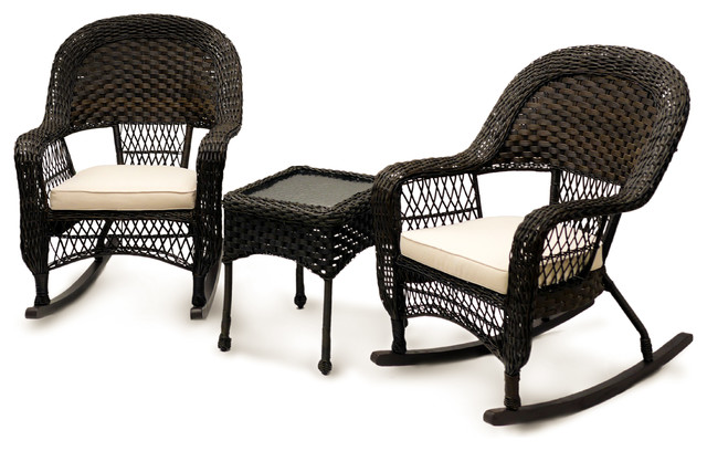 Sol Siesta Veranda Collection 3 Piece Rocking Chair Set Traditional Outdo
