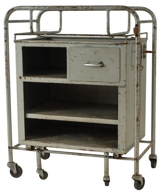 Vintage Metal Industrial Cart - Modern - Filing Cabinets - by Chairish