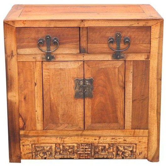 Chinese Walnut Cabinet - Traditional - Nightstands And Bedside Tables - by Chairish